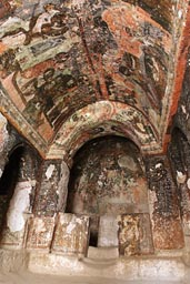 Songanli, valley, cave church, Turkey.