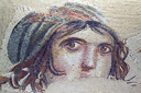 Gypsy girl, Zeugma mosaics, Turkey.