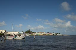 Water Front, north Belize City.