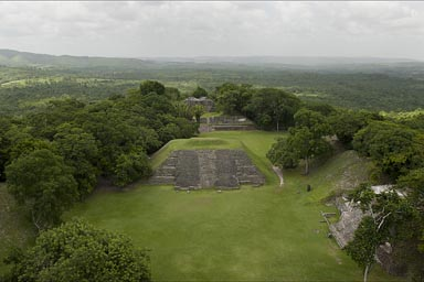 View from temple Xunantunich, Guatemala to the left.