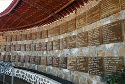 Names of families murdered in El Mozote massacre 1981, El Salvador.