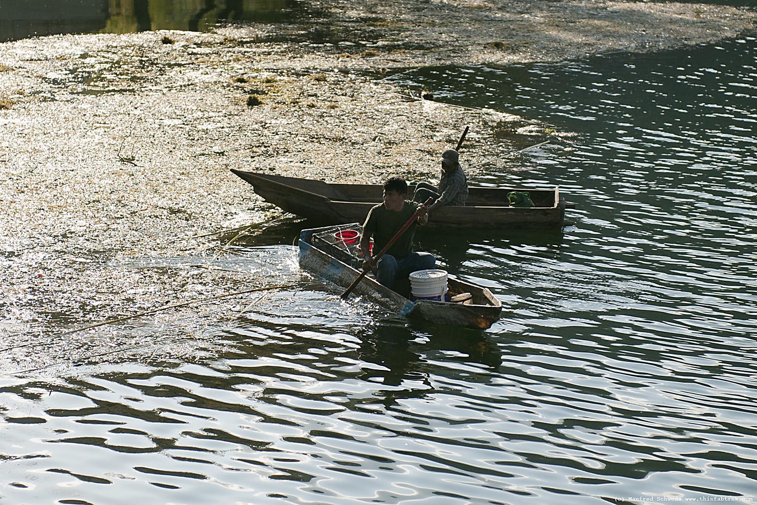 La Laguna Lake Atitlan Fishing boats Guatemala
