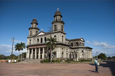 Managua cathedral, destroyed by earthquake.