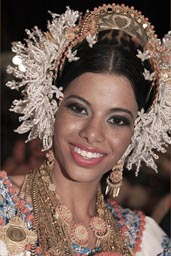 Her smile comes the most natural. Carnival queen, Las Tablas, Panama.