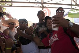 Drinking feast, getting drunk is prime purpose, carnival Panama.