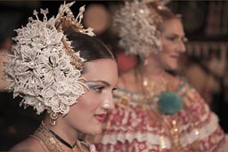 Tembleques, headgear, pearls, beads. carnival beauties, queen for a day, a year or a life time, Las Tablas, eleborate head gear.