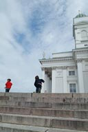 On top of cathedral mount, Helsinki.