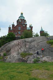Orthodox cathedral, on rock, Helsinki.