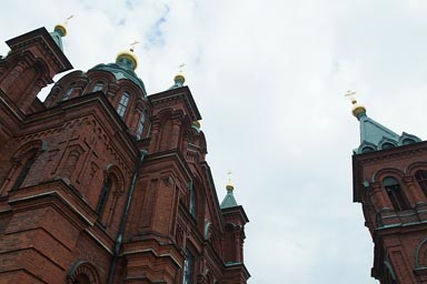 Orthodox cathedral detail, Helsinki.
