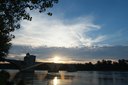 Pont d'Avignon. Sunset.