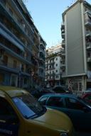 Modern Thessaloniki. Concrete and cars.