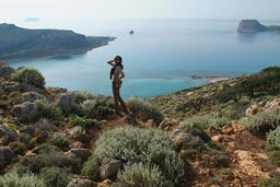 Land is beautiful, Crete coastal bay.