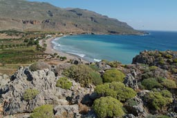 Windy Sakros bay, Crete.