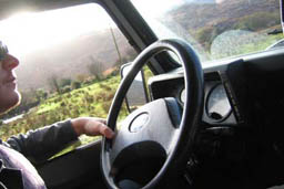 Driving Black Valley in Kerry, Irelenad