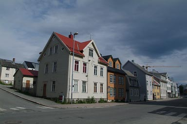 Tromso, old wooden houses.