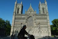 Front, and cyclist, Nidaros, Trondheim.