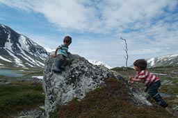 Playing in Norways glacial region.