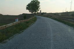 My road, communist area cobbled stones on country roads, southern Romania.