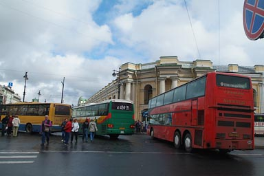 Buses on Nevsky Prospect.