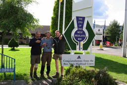 Steven, Jon, myself at the end of the West Highland Way, Fort William