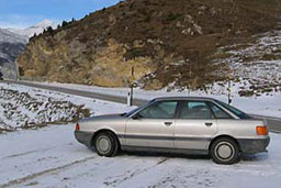 Audi 80 in Switzerland, on way to the UK.
