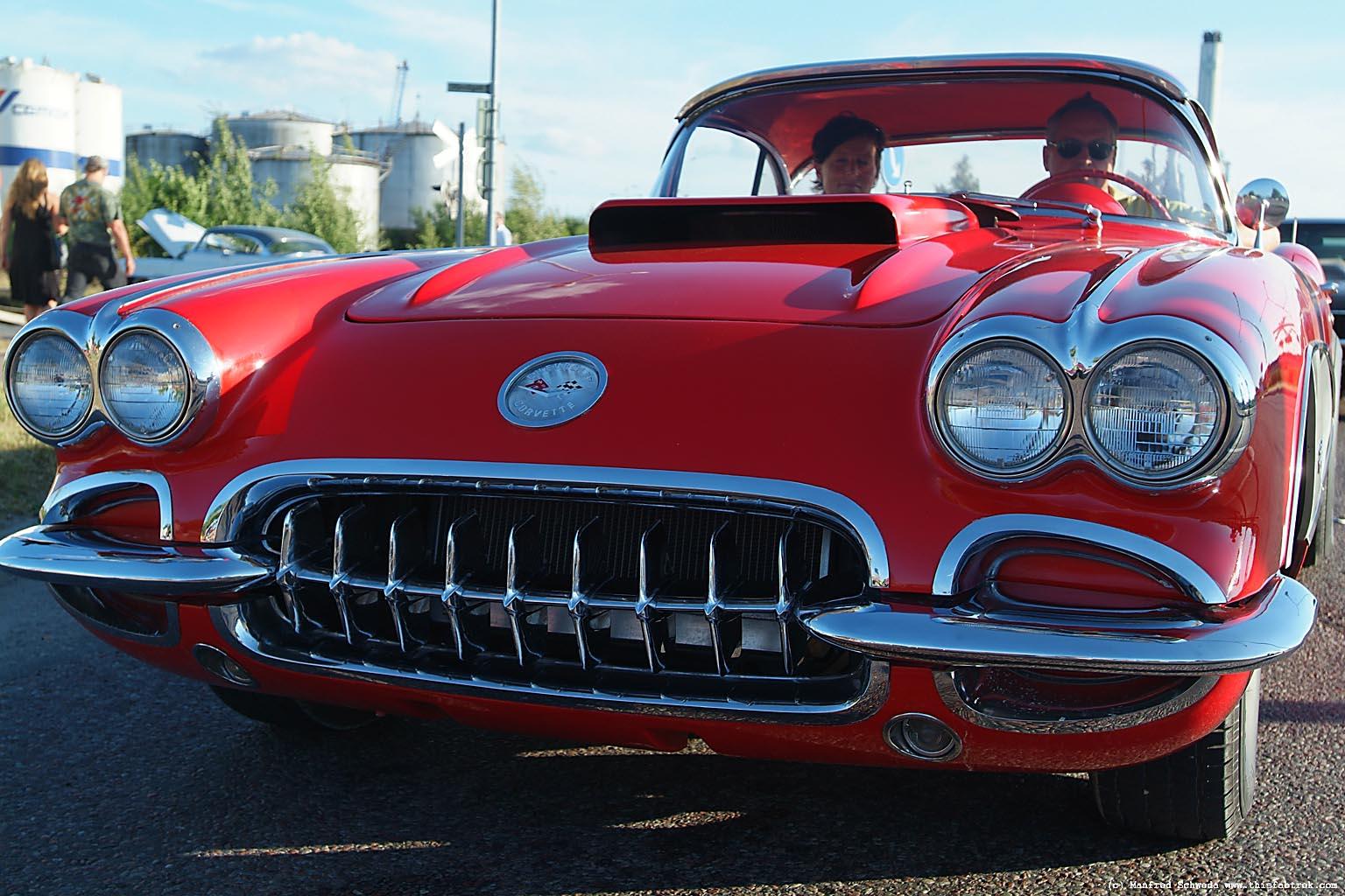 Red Corvette.