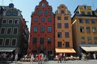Square and toursits, Stockholm