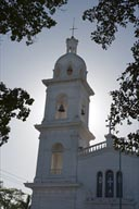Los Mochis white mission church, Sinaloa.