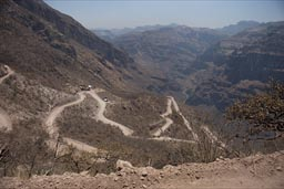 Road down Batopilas Canyon.