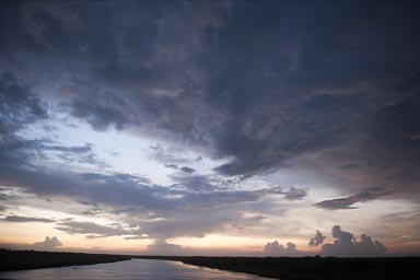 Laguna del Carmen, evening clouds.