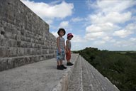 On top of Great (Main) Pyramid, Uxmal.