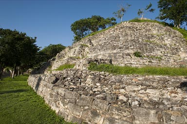 Itzamatul, Maya site in Izamal, right next to the convent, Yucatan.