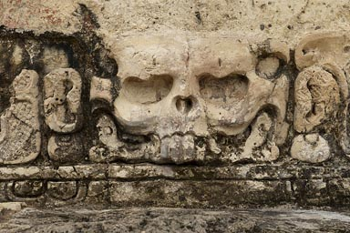 Detail, Templo de la Calavera, Temple of the Skull, Palenque.