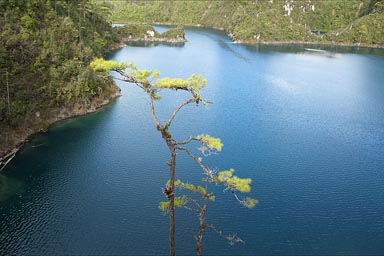 Blue lake, Cinco Lagos, Chiapas.