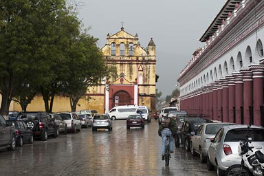 Town center and it rains. San Cristobal de las Casas, Chiapas.