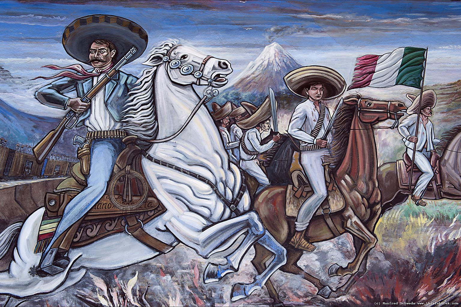 Photography and journey cuernavaca the land of the zapata for Emiliano zapata mural