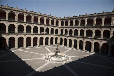National Palace, main patio, Mexico City.