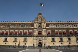 Mexico, National Palace, El Zocalo front entrance..