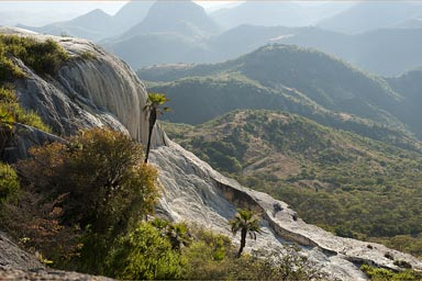 White washed desolved rocks, Hierve de Agua.