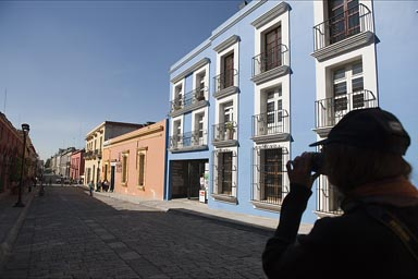 Take a picture down the street. Oaxaca.