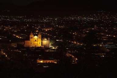 Oaxaca, at night.
