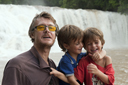 Me and the boys at the waterfalls Agua Azul, Chiapas.