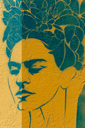 Frida Kahlo, grafiti Mexico City.