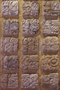 Reproduction of Maya glyphs. The hieroglyphs can be read since the 70s and helped shed light on history and rulers.