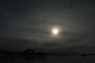 Port Townsend pier, sun, fog and clouds. Camera turned to minus 3 steps.
