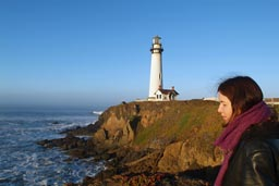 Christina at Pigeon Point.