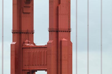 Detail of pier, Golden Gate Bridge.