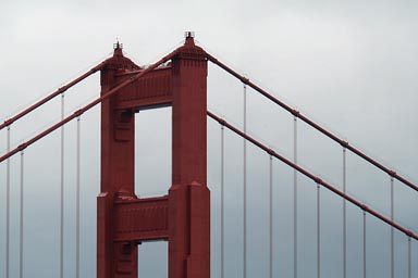 Top of Golden Gate Bridge.