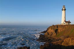 Pigeon Point Lighthouse, morning, California.