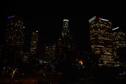 Spooky Downtown LA at night.